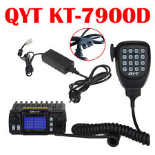 QYT KT-7900D Quad Band  VHF UHF Car Truck Mobile Ham Radio  w/12V Wall Charger