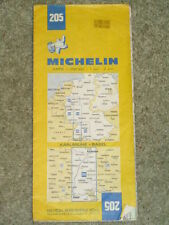 Michelin map - Karlsruhe-Basel - sheet 205. Scale 1:200,000