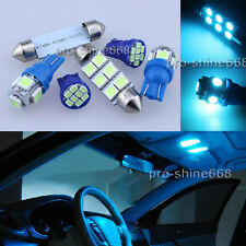 17PCS Aqua Ice Blue Car LED Light Interior Package Kit For Chevy Silverado 99-06