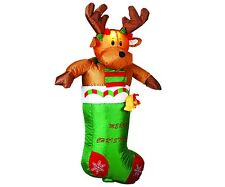 3.6FT Large Airblown Inflatable Deerlet Christmas Lawn Yard Outdoor Decoration