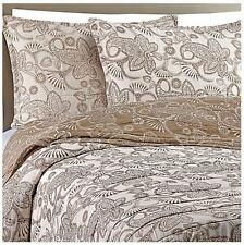 New Bloomingdale's Gaya Cotton Voile Taupe Queen Quilt Set 100% Cotton $300