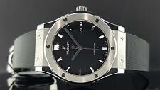Hublot Classic Fusion 42mm Titanium Black Dial 542.NX.1171.RX Box & Papers New