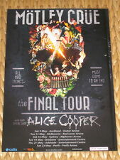 MOTLEY CRUE - THE FINAL TOUR - AUSTRALIA MAY 2015 -  LAMINATED POSTER