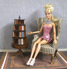ROUND   BOOKCASE  WITH  DRAWERS ~ for  BARBIE ~  1:6 scale ~  Furniture