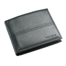Dockers 31DK1433 Men's Black Leather Pocketmate ID Billfold Bifold Wallet