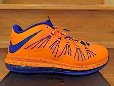 Nike Air Max LeBron 10 Low Bright Citrus Orange / Hyper Blue Size 10.5 Shoes