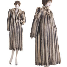 Mint! Sexy & Glam! European Fitch Fur Full-Length Coat
