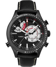 Timex Men's Intelligent Quartz TW2P72600 Chronograph Black Dial Black Leather Ba