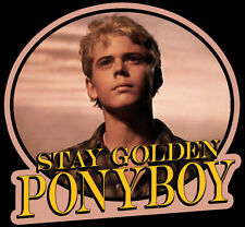 """80's Classic The Outsiders Ponyboy """"Stay Golden"""" custom tee AnySize AnyColor"""