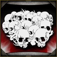 Skull Background 18 -  Airbrush Stencil Template Airsick