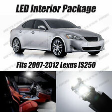 16pcs LED White Lights Interior License Package Kit For Lexus IS250 IS350  06-12