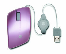 HP Retractable Mouse Pink