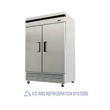 STAINLESS STEEL  2 DOOR COMMERCIAL REACH IN REFRIGERATOR COOLER