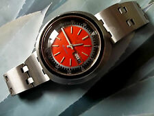 Seiko 5 Men's UFO  Sports, Diver, Auto, Orange 6119-8400 Inner Rotating Bezel