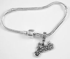 Motorcycle Bracelet Bike Gift Cycle Bangle V twin Biker Present Motorcycle charm