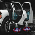2pcs LED Car Door Step Welcome Projector Laser Logo Ghost Shadow Light For Skull