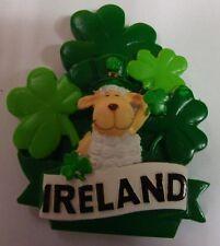 IRELAND RESIN FRIDGE MAGNET IRELAND SHEEP TOPHAT SHAMROCKS