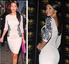Stunning Lipsy Michelle Keegan Lace Mesh Size 12 Pencil Bodycon Dress £65 Party