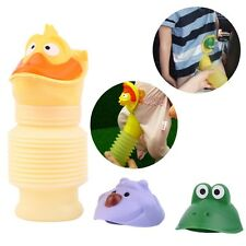 Portable Travel Urinal Cartoon Car Toilet Pee Potty Training Unisex Kids SY