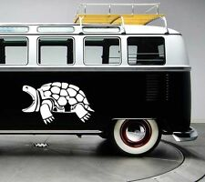 2x Large snapping turtle surf surfing vinyl car vw van graphic decal stickers