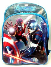 Marvel Captain America Iron Man Backpack School Carry On Bag Ultron Avenger Disn