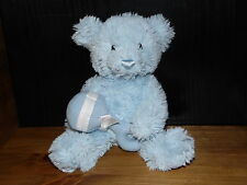 GUND TEDDY BEAR SOFT TOY WELCOME LITTLE ONE BLUE COMFORTER RATTLE DOUDOU
