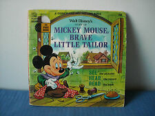Mickey Mouse, Brave Little Tailor 1968 Read Along Book & Record