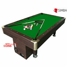 7 Ft Pool Table Billiard Green Cloth with coin machine for public places Apollo
