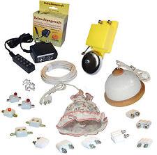 Startset Puppenhausbeleuchtung 3,5V Trafo,2 Lampen,Klingel,Schalter etc. Kahlert