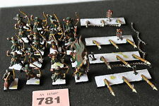 Games Workshop Warhammer Bretonnian Bowmen Archers Painted Models Lot Regiment