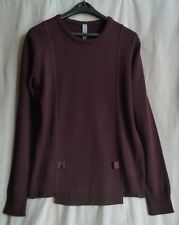 SILENT by DAMIR DOMA Wine Wool-Blend KUNAR Sweater SIZE M