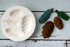 Silicone Mould,  Fir Cones,Pine Cones, Spruce, Christmas Ellam Sugarcraft M199