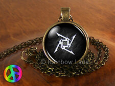 Black Metallica Music Rock Band Logo Necklace Pendant Jewelry Gift