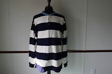 Rare Vintage Nautica American Yachting Heavy Knit Striped Henley L Made in USA
