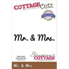COTTAGE CUTZ WEDDING EXPRESSIONS MR AND MRS DIE CUTTING DIES - NEW UNIVERSAL FIT