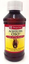 De La Cruz Oil of the Bear / Aceite del Oso 4 fl. oz.