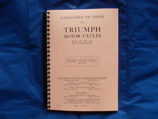 TRIUMPH PRE-WAR 1931-1932  PARTS BOOK - MODELS WA,WO,WL AND NM,ND DE-LUXE +NT