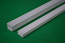 1.2m Full Length 4mm PVC Glass Runners Track fit 4ft Vivarium White Top+Bottom