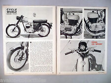 Ossa 175 Sport Motorcycle Review MAGAZINE ARTICLE - 1965