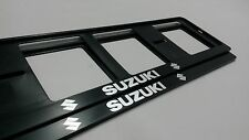 2X SUZUKI EUROPEAN LICENSE NUMBER PLATE SURROUND FRAME HOLDER.