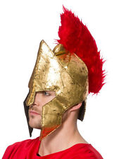Adult Warrior Helmet Hat Fancy Dress Accessory Roman Gladiator Centurion Legion