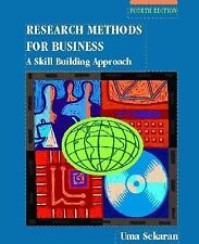 Research Methods for Business : A Skill Building Approach by Uma Sekaran (2002,