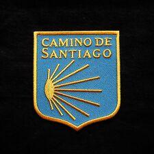 Camino de Santiago Way of St. James Scallop Shell Pilgrim Cloth Patch