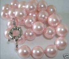 """Beautiful! 8mm Pink South Sea Shell Pearl Necklace 18"""""""