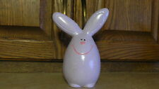 Easter Egg  Bunny - Rabbit Ceramic Handpainted  Decoration Lilac