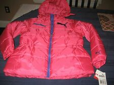 GIRLS puma Youth Size Large Coat Jacket puffer puffy style hot pink nwt