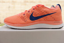 NIKE WOMEN'S FLYKNIT LUNAR1+ SHOES SIZE 9 atomic pink royal 554888 641 MSRP $160