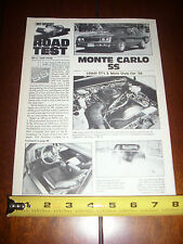 1984 CHEVROLET MONTE CARLO SS - ORIGINAL ARTICLE