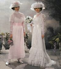 Misses Victorian Edwardian Wedding Bridal Gowns Sz 14-20 UNCUT Sewing Pattern