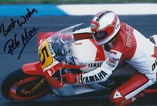 Rob McElnea Hand Signed Photo 12x8 Marlboro Yamaha MotoGP 2.